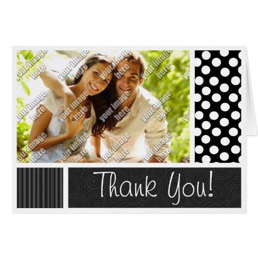 Black & White Polka Dots Stationery Note Card