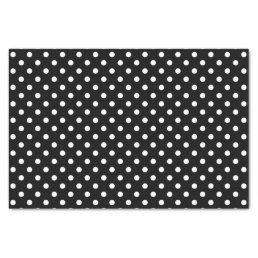 Black & white polka dots wedding gift tissue paper