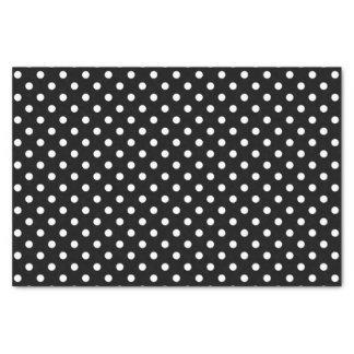 """Black & white polka dots wedding gift tissue paper 10"""" x 15"""" tissue paper"""