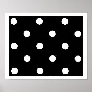 black & white polkadots poster