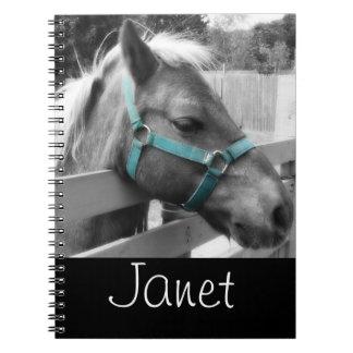 Black & White Pony Notebook