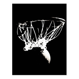 Black White Pop Art Basketball Postcard