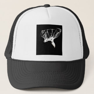Black White Pop Art Basketball Trucker Hat