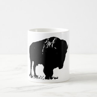 Black & White Pop Art Bison Buffalo Coffee Mug