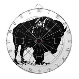 Black & White Pop Art Bison Buffalo Dart Board
