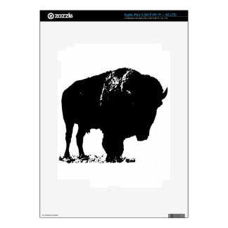 Black & White Pop Art Bison Buffalo Decals For iPad 3