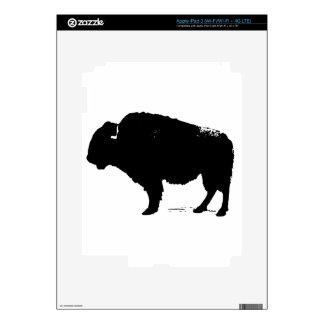 Black & White Pop Art Buffalo Bison iPad 3 Decals