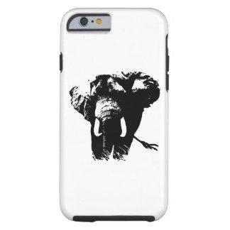 Black White Pop Art Elephant Tough iPhone 6 Case