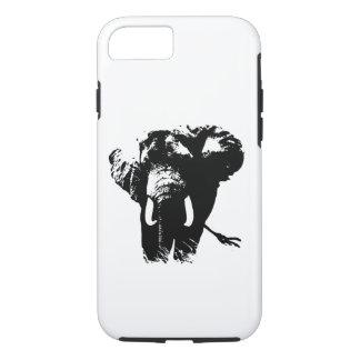 Black White Pop Art Elephant Tough iPhone 7 Case