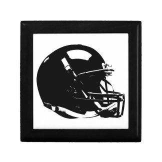 Black White Pop Art Football Helmet Jewelry Box