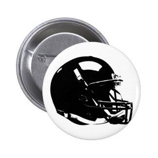 Black White Pop Art Football Helmet Pinback Button