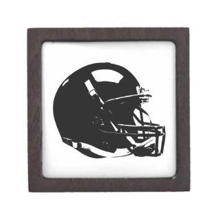 Black White Pop Art Football Helmet Premium Keepsake Boxes