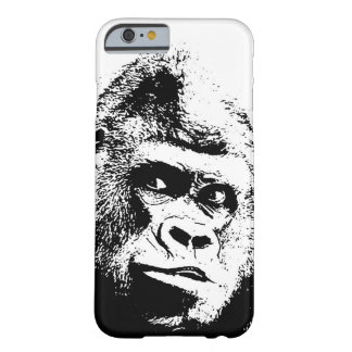 Black White Pop Art Gorilla Barely There iPhone 6 Case