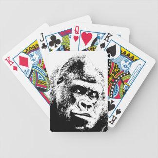Black White Pop Art Gorilla Bicycle Playing Cards