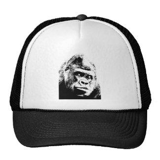 Black White Pop Art Gorilla Trucker Hat