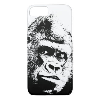 Black White Pop Art Gorilla iPhone 8/7 Case