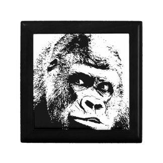 Black White Pop Art Gorilla Jewelry Box