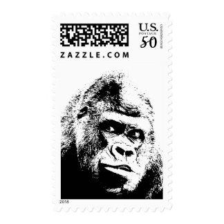 Black & White Pop Art Gorilla Postage