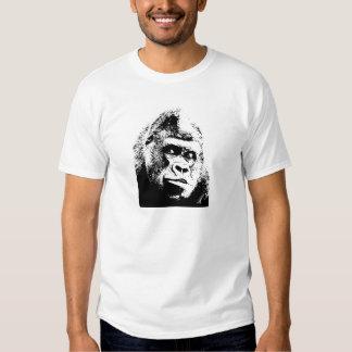 Black White Pop Art Gorilla Shirt