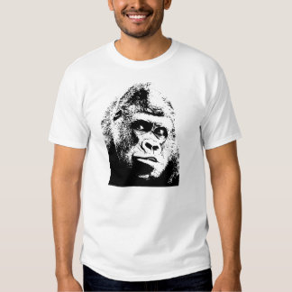 Black White Pop Art Gorilla T-shirt