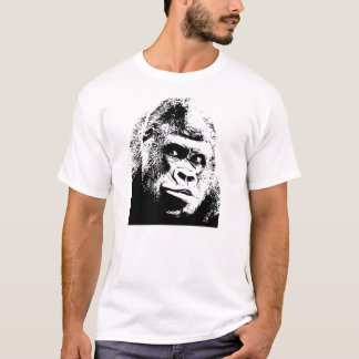 Black White Pop Art Gorilla T-Shirt