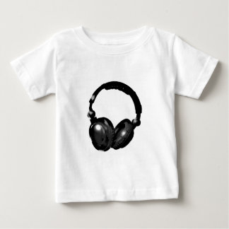 Black & White Pop Art Headphone Baby T-Shirt