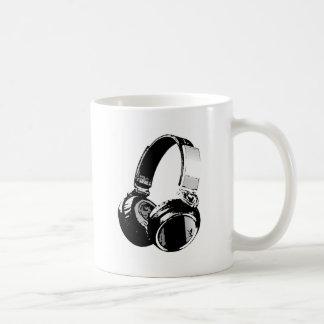Black & White Pop Art Headphone Coffee Mug