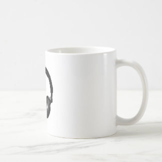 Black & White Pop Art Headphone Coffee Mugs