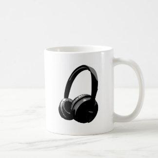 Black & White Pop Art Headphone Mug