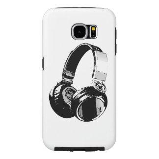 Black & White Pop Art Headphone Samsung Galaxy S6 Case