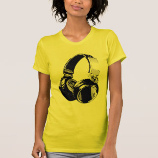 Black & White Pop Art Headphone T-Shirt