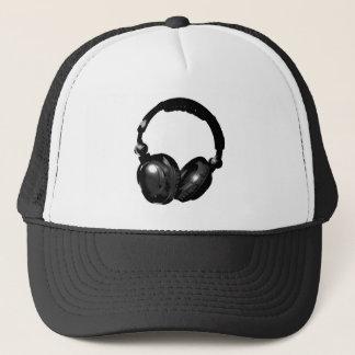 Black & White Pop Art Headphone Trucker Hat