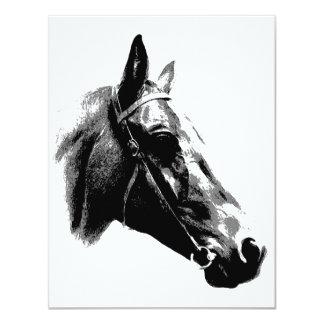 Black & White Pop Art Horse Card