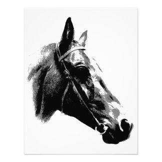 Black White Pop Art Horse Custom Invite