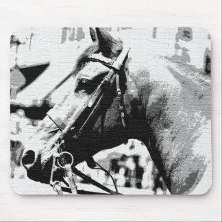Black & White Pop Art Horse Mouse Pad