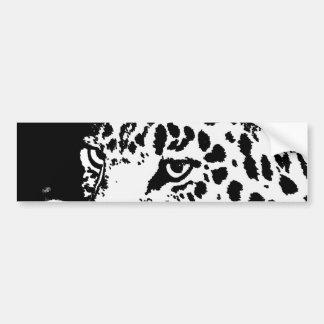 Black & White Pop Art Leopard Bumper Sticker Car Bumper Sticker