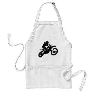 Black White Pop Art Motocross Motorcyle Sport Adult Apron
