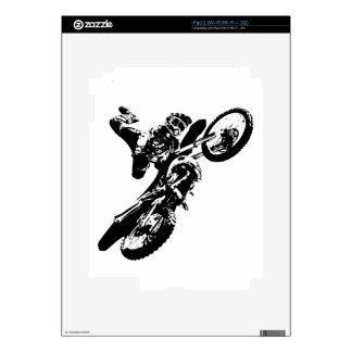 Black White Pop Art Motocross Motorcyle Sport Decal For The iPad 2