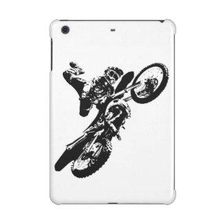 Black White Pop Art Motocross Motorcyle Sport iPad Mini Case