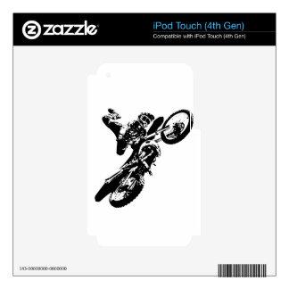 Black White Pop Art Motocross Motorcyle Sport iPod Touch 4G Skin
