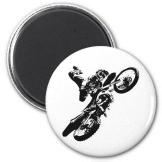 Black White Pop Art Motocross Motorcyle Sport Magnet