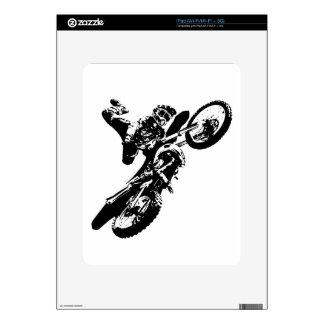 Black White Pop Art Motocross Motorcyle Sport Skin For The iPad