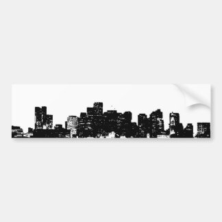 Black White Pop Art New York City Car Bumper Sticker