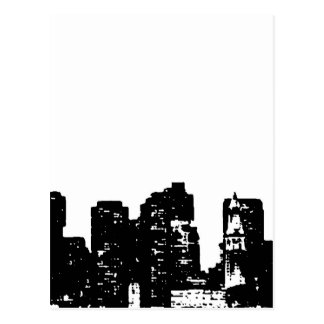 Black White Pop Art New York City Postcard