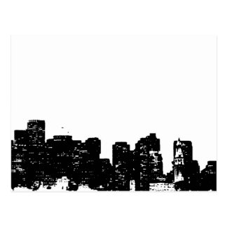 Black White Pop Art New York City Postcard