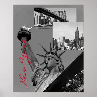 Black & White Pop Art New York City Poster