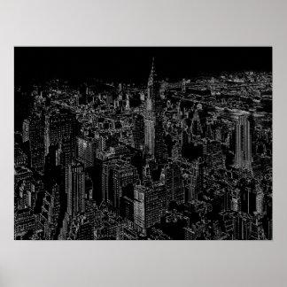 Black & White Pop Art New York City Poster Print