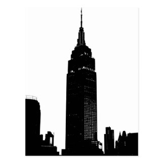 Black & White Pop Art New York Postcard