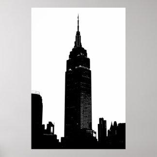 Black & White Pop Art New York Poster