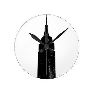 Black & White Pop Art New York Round Clock